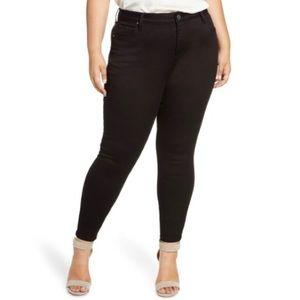 Kut NWT High Rise Mia Toothpick Skinny Jeans Black